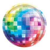 "Disco Fever 10 1/2"" Plates - 8 Per Unit"