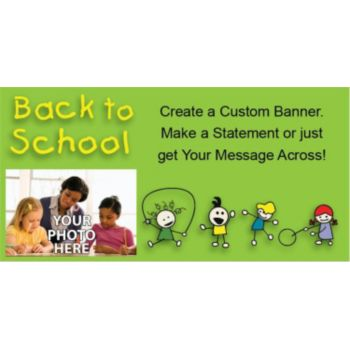 Back to School Custom Photo Banner