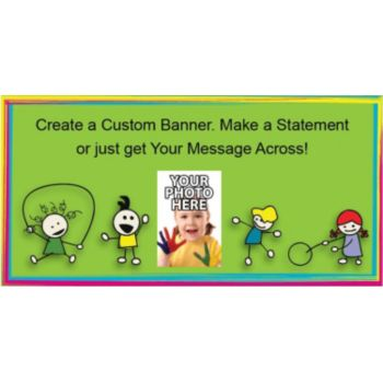 School Yard Fun Custom Photo Banner