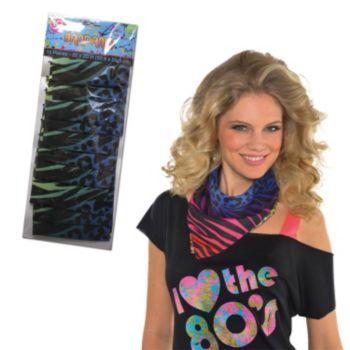 Multi-Color Zebra Print Bandanas - 20 inch, 10 Pack