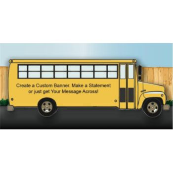 School Bus Custom Banner