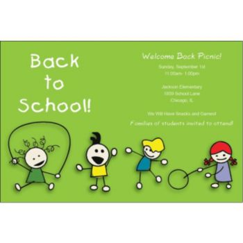 Back to School Personalized Invitations