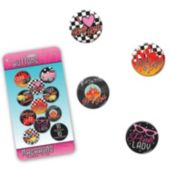 Back To the 50's Buttons- Unit of 10
