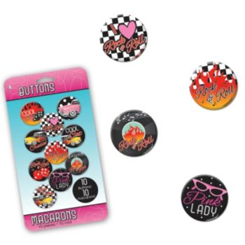 Back to the 50's  Button Pins