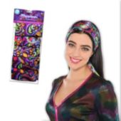 Colorful Psychedelic 70's Scarves - 10 Pack