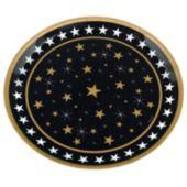 "Gold & Silver Stars 13 1/2"" Platter"