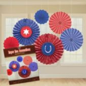 Western Bandana Fan Decorations-6 Pack