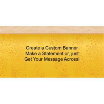 Beer Foam Custom Banner