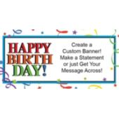 Birthday Ribbons Custom Banner