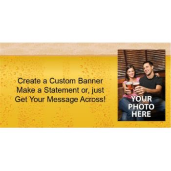 Beer Foam Custom Photo Banner