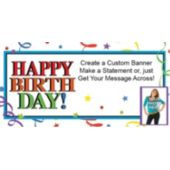 Birthday Ribbons Custom Photo Banner