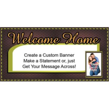 Welcome Home Sweet Home Custom Photo Banner