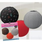 Rock And Roll Paper Lanterns-3 Pack