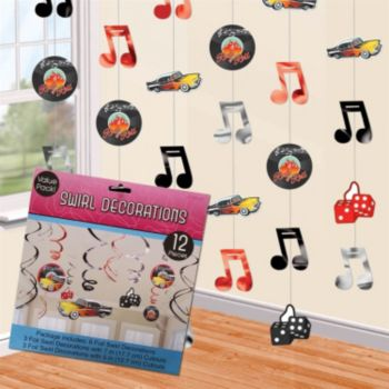 Back to the 50's  String Decoration
