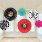 Back To the 50's Fan Decorations-6 Pack
