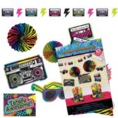 80's Retro Awesome Room Decorating Kit