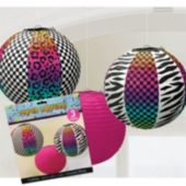 Colorful Animal Print Paper Lanterns-3 Per Unit