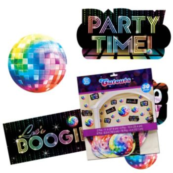 Disco Fever Cutouts  Value Pack