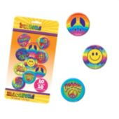 Feeling Groovy Button Pins - Unit of 10