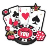 "Lucky Casino 10 1/2"" Cutout"