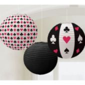 Casino Paper Lanterns-3 Pack