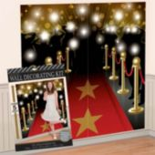 Red Carpet Wall Decorating Scene Setter