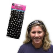 Black And White Polka Dot Scarves - 10 Per Unit