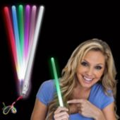 Flashing Multi-Color LED Lightstick - 11 Inch, 12 Pack