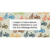 Bicycle Races Custom Banner