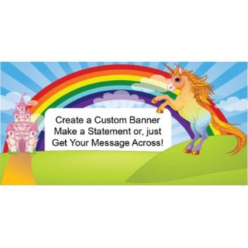 Unicorn Rainbow Custom Banner