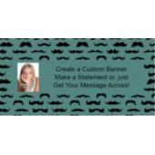 Mustache Mania Custom Photo Banner