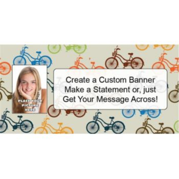 Bicycle Races Custom Photo Banner