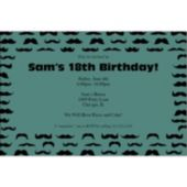 Mustache Mania Personalized Invitations