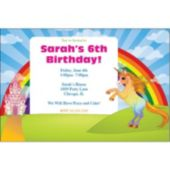 Unicorn Rainbow Personalized Invitations
