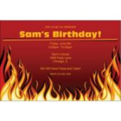 Red Hot Flames Personalized Invitations