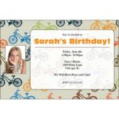 Bicycles Personalized Photo Invitations