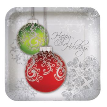 "Jingle Bells  9"" Plates"