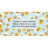 Beer And Pretzels Custom Banner