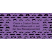 Mustache Mania Purple Custom Banner