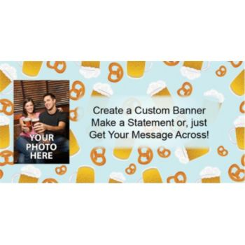 Beer and Pretzels Custom Photo Banner
