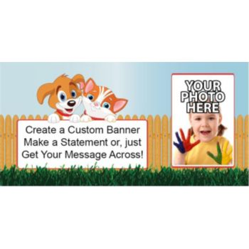 Playful Pets Custom Photo Banner