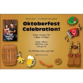German Medley Custom Photo Personalized Invitations
