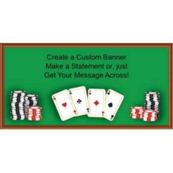Poker Table Custom Banner
