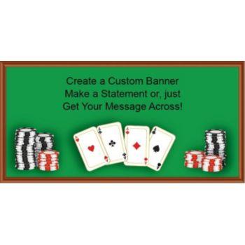 Poker Table Custom Banner