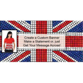 Union Jack Custom Photo Banner