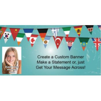 International Pennants Custom Photo Banner