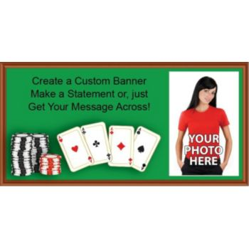 Poker Table Custom Photo Banner