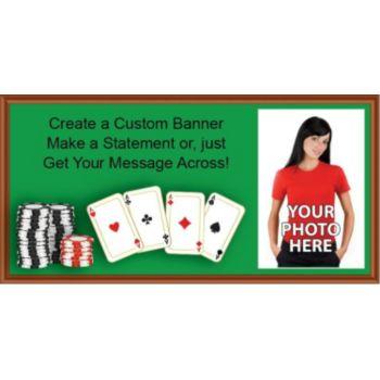 Poker Table Custom Photo Banner