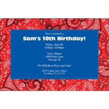 Western Paisley Personalized Invitations