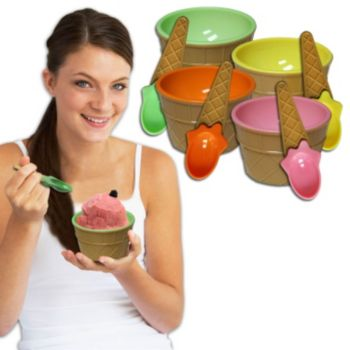 Ice Cream Cup  and Spoon Sets